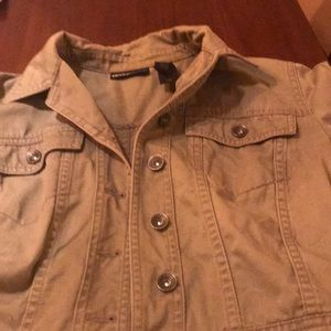 DKNY Olive green jean jacket.  Great condition.